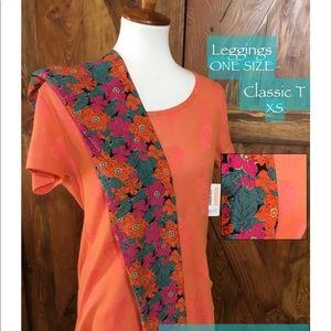 LuLaRoe outfit XS Classic OS Leggings MSRP $60 $36